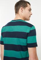 Superbalist - Wide stripe & plain 2 pack tees - multi
