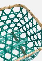 Sixth Floor - Cody basket – natural/blue