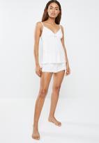 DORINA - Romy camisole - white & pink
