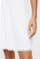DORINA - Romy dress - white & pink