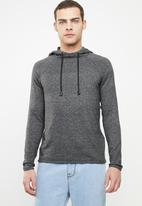 Only & Sons - Alexo 12 raglan hooded knit - charcoal