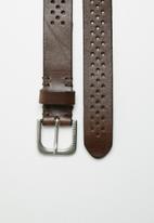 Jack & Jones - Sontra leather belt - black coffee
