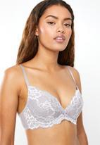DORINA - Lianne  push up plunge bra - grey