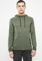 Only & Sons - Alexo 12 raglan hooded knit - olive