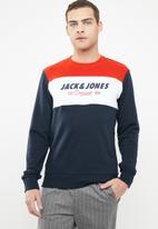 Jack & Jones - Shakedown crew neck sweat - multi