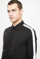 Brave Soul - Lotus shirt - black