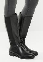 ALDO - Leather side elastic knee-length boot - black