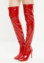 Miss Black - Belle 5 boot - red