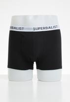 Superbalist - 3-pack jersey boxer briefs - black