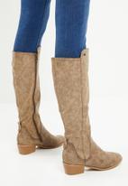 Miss Black - Knee length boot - chocolate