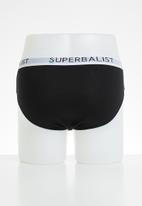 Superbalist - 3-pack jersey briefs - black