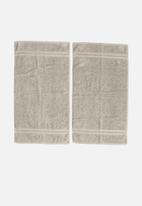 Club Classique - Grace hand towel set of 2 - cement