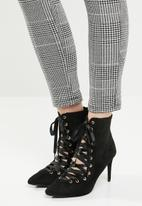 Miss Black - Lace up ankle boot - black