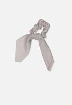 Cotton On - Scarf scrunchie - silver