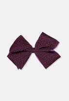 Cotton On - Statement bows - burgundy