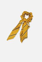 Cotton On - Scarf striped scrunchie - yellow
