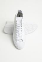 Converse - Chuck taylor all star leather - hi - white monochrome