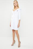 STYLE REPUBLIC - Double breasted blazer dress - white