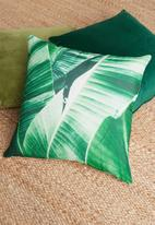 Grey Gardens - Silas cushion cover - green