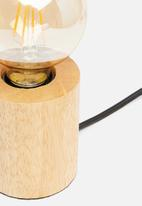Present Time - Bar table lamp - wood