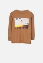 Cotton On - Tom long sleeve tee - brown