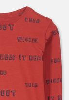 Cotton On - Tom long sleeve tee - red
