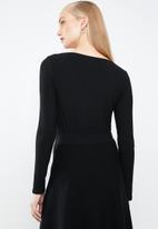 MANGO - Ribbed T-shirt - black