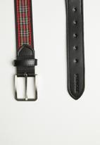 Pringle of Scotland - Sulley tartan belt - black