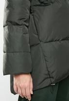 MANGO - Quilted oversized puffer - green