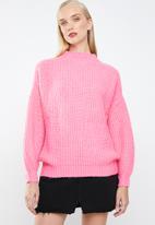 MANGO - Oversized chunky knit - pink