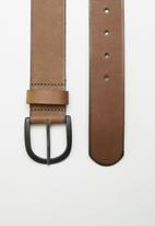 Superbalist - Embossed smart leather belt - brown