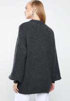 MANGO - Long line knit - grey