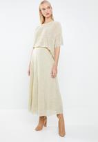 MANGO - Textured flowy T-shirt - beige