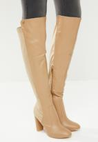 Miss Black - Over the knee boot - taupe