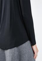 MANGO - Long sleeve loose fit top - black