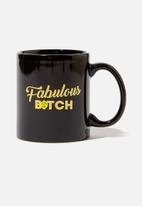 Typo - Anytime mug - black & gold