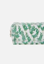 Typo - Made up cactus print cosmetic bag - green & gold