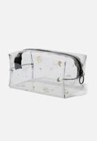 Typo - Made up constellation print cosmetic bag - black & gold
