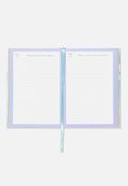 Typo - Activity time clouds thoughts and reflections journal - white & purple
