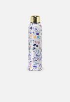 Typo - Small terrazzo metal drink bottle - multi