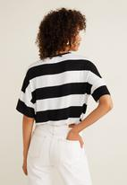 MANGO - Chest-pocket striped T-shirt - black