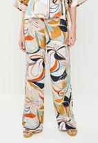 MANGO - Floral slouchy trousers - multi