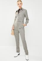 MANGO - Gingham check jumpsuit - multi