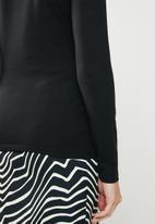 MANGO - Long sleeve T-shirt - black