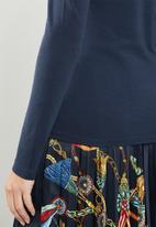 MANGO - Long sleeve T-shirt - navy