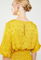 MANGO - Jacquard textured blouse - yellow