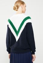 MANGO - Tricolour knit - multi