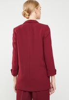 MANGO - Shawl collar blazer - burgundy