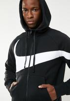 Nike - Nsw hbr full-zip hoodie - black & white