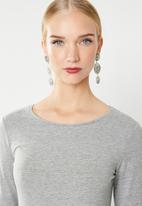 MANGO - Long sleeve T-shirt - grey
